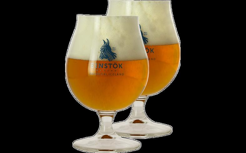 Beer glasses - 2 Glasses Einstök - 25 cl