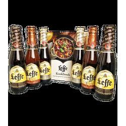 Cadeaus en accessoires - 2 Leffe Blonde, 2 Bruin en 2 Tripel + GRATIS Leffe Kookboek!