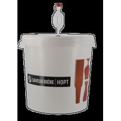 Accessoires du brasseur - Seau de fermentation gradué 30L Saveur-Bière sans robinet avec couvercle perforé