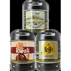 Kegs - PerfectDraft 6l Keg 3-pack Leffe Blonde - Kwak - Tripel Karmeliet