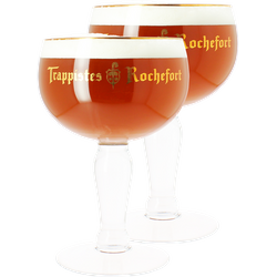 Beer glasses - Trappistes de Rochefort 33cl glass x2