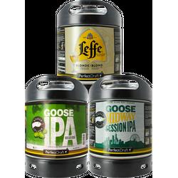 Kegs - Assortiment 3 fûts 6L Goose Island IPA - Goose Midway - Leffe Blonde