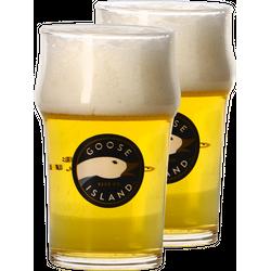 Biergläser - Pack 2x 25cl Goose Island Gläser