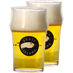 Beer glasses - Pack 2 verres plat Goose Island