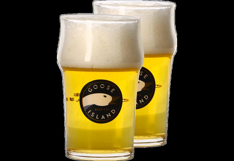 Biergläser - Pack 2 verres plat Goose Island