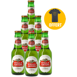 Cadeaus en accessoires - Pack 6 Stella Artois + 1 T-shirt