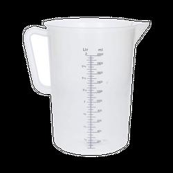 Measuring equipment - Measuring jug polypropylene graduated 2000 mL