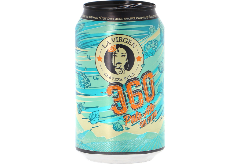 Bottled beer - La Virgen 360 can