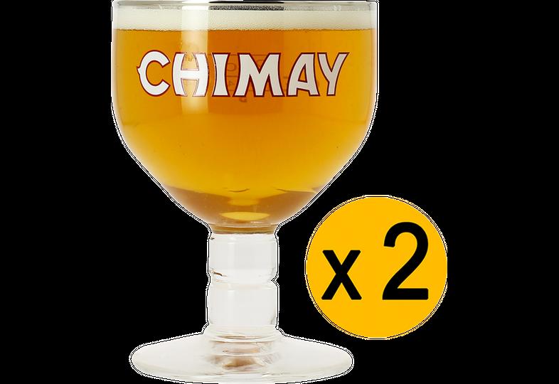 Ölglas - 2 Chimay 33cl glasses
