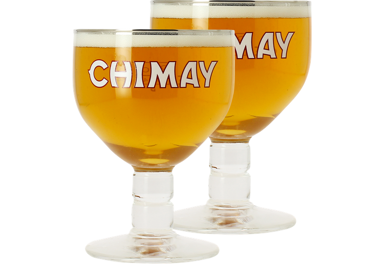 Beer glasses - 2 Chimay 33cl glasses