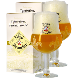 Beer glasses - Pack 2 Coffrets Verre Tripel Karmeliet - 30 cl