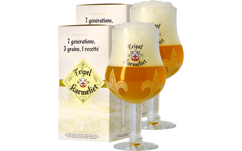 Verres à bière - Pack 2 Coffrets Verre Tripel Karmeliet - 30 cl