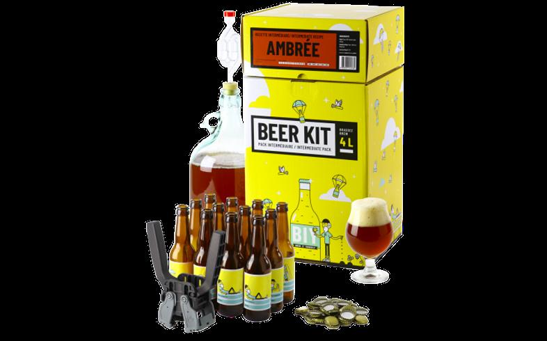 Kit ricette per tutti i grani - Kit di birra intermedio COMPLETO - Birra ambrata