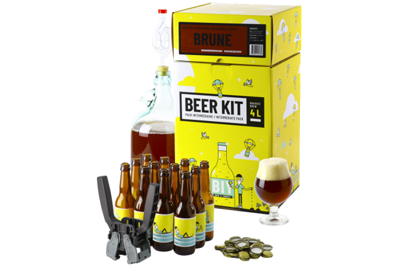 Kit à bière tout grain - Beer Kit Intermédiaire Complet Bière Brune