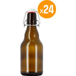 Accessoires du brasseur - 24 bouteilles 33 cl + 24 Bouchons mécaniques avec joint