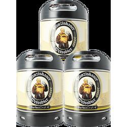 Fässer - Franziskaner Weissbier PerfectDraft 3-pack Fässer 6 liter - Mehrweg