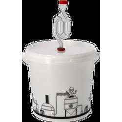 Brouwgereedschap - Gistingsvat 6,2L met deksel en waterslot