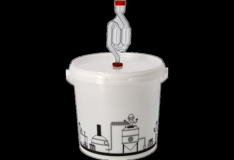 Accessoires du brasseur - Seau de fermentation 6,2L gradué avec couvercle troué et Barboteur