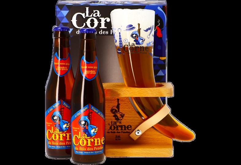 Accessoires et cadeaux - Coffret La Corne du Bois des Pendus - 2 bières et 1 verre