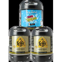 Fusti - Fusto Leffe Blonde e Tiny Rebel Clwb Tropica PerfectDraft 6L - 3-Pack