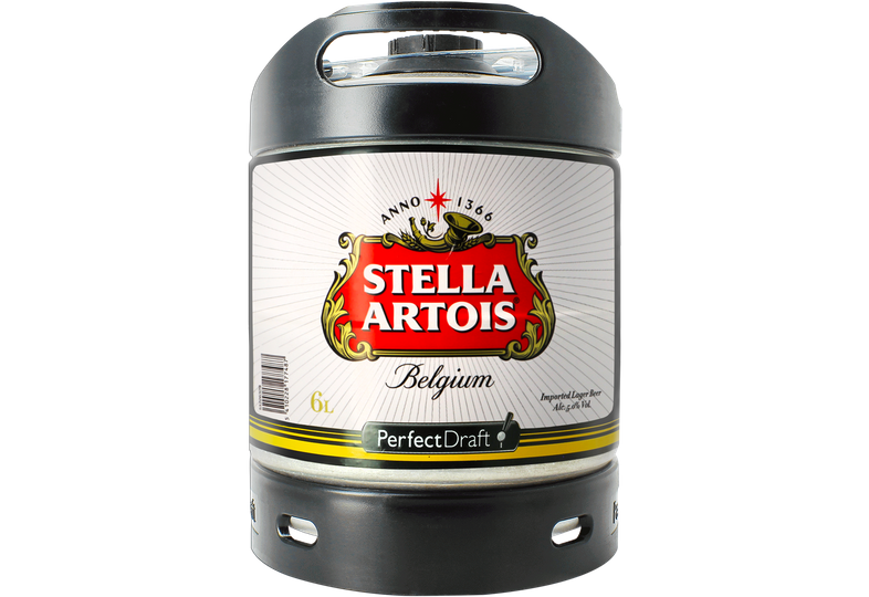 Fässer - Stella Artois 6L Pils Perfect Draft Fass - Mehrweg