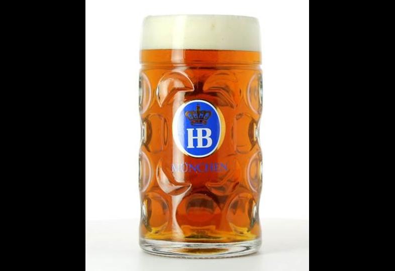 Bierglazen - Glazen bierpul Hofbräuhaus 1l