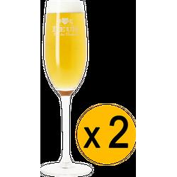 Verres à bière - Pack 2 Verres Deus Brut Des Flandres - 12.5 cl