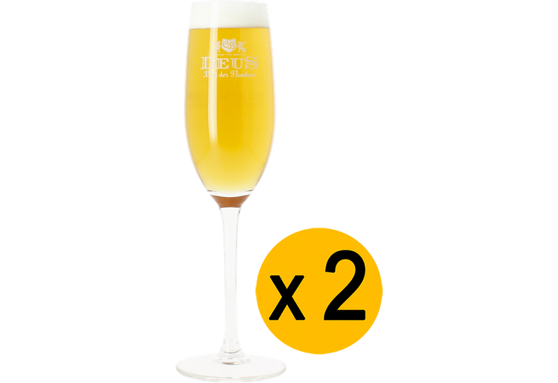 Beer glasses - 2 Deus Brut Des Flandres beer glasses - 12.5 cl