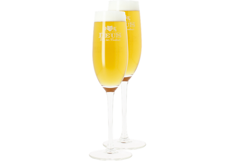Ölglas - 2 Deus Brut Des Flandres beer glasses - 12.5 cl