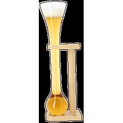 Verres à bière - Verre Kwak + support en bois -75 cl
