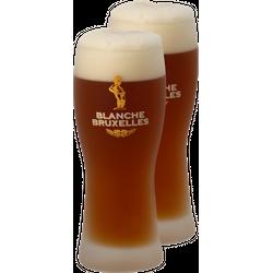Verres à bière - Pack 2 verres Blanche de Bruxelles - 33 cl