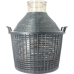 Demi-Johns - 20-litre oversize neck demijohn with basket