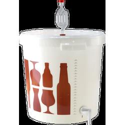 Biervergisting - Gistingsvat Brewferm 30L compleet met waterslot, kraan en deksel