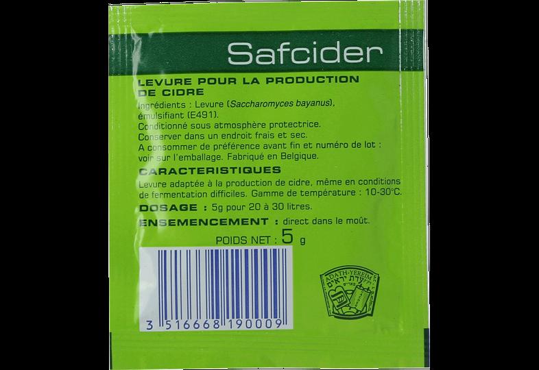 Levures pour fermentation - Levure Safcider 5g
