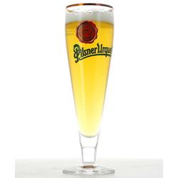 Ölglas - glass Pilsner Urquell flûte logo vert