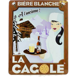 Gifts - Small Metallic Plate of La Cagole Blanche