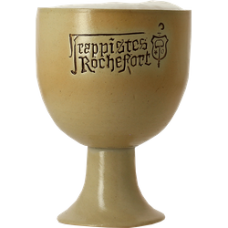 Beer glasses - Rochefort earthenware goblet beer glass