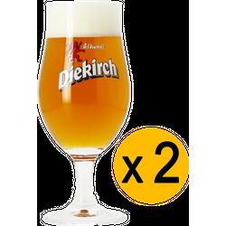Beer glasses - 2 Diekirch beer glasses - 25 cl