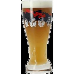 Bierglazen - Rood/blauw glas met logo 1664 - 25 cl