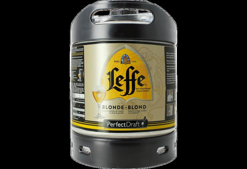 Fässer - Leffe Blonde PerfectDraft Fass 6 liter - Mehrweg