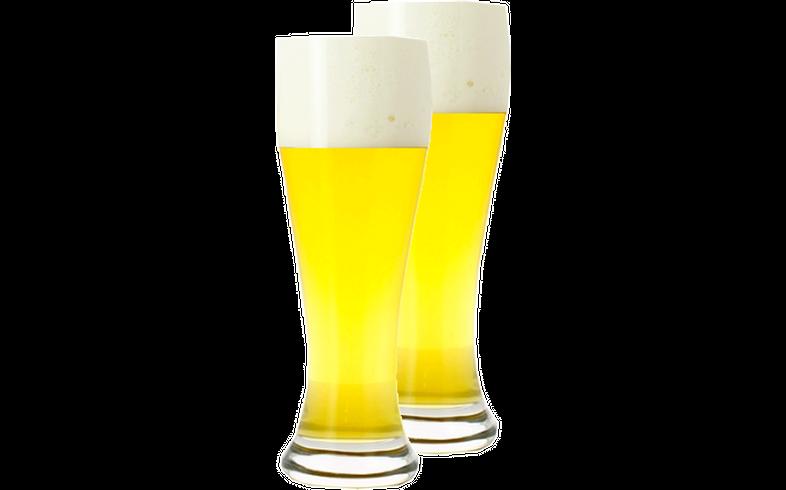 Verres à bière - Pack 2 verres neutres Weizenbeer & Pils 50 cl