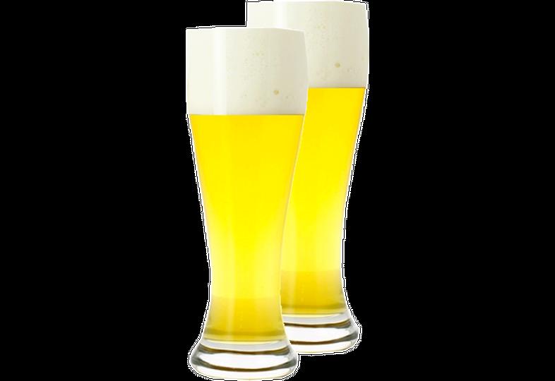 Biergläser - Pack 2x 50cl neutrale Weißbiergläser