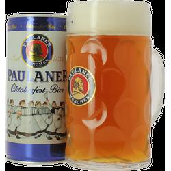 Confezione regalo con birra e bicchieri - Pack Paulaner Oktoberfest 1L et Chope 1L