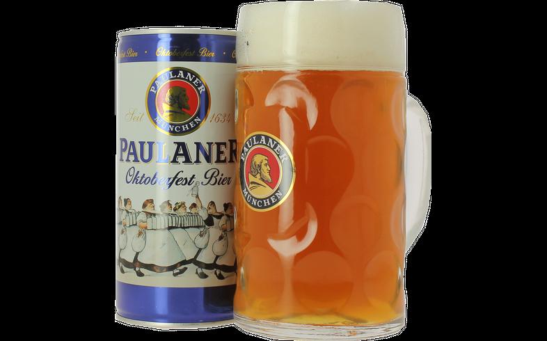 Coffrets cadeaux verre et bière - Pack Paulaner Oktoberfest 1L et Chope 1L