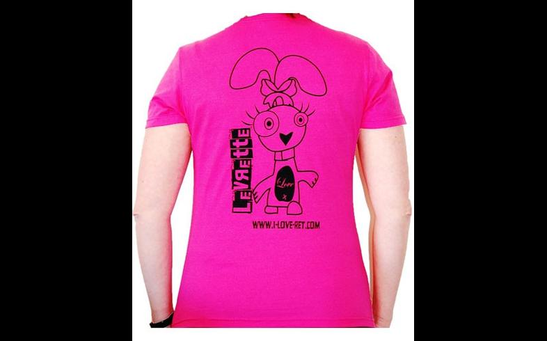 La Levrette - T-shirt Femme Levrette - Rose - L