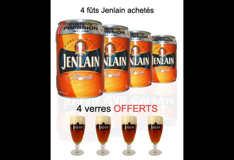 Bonnes affaires - Fûts - 4 fûts Jenlain - 4 verres offerts