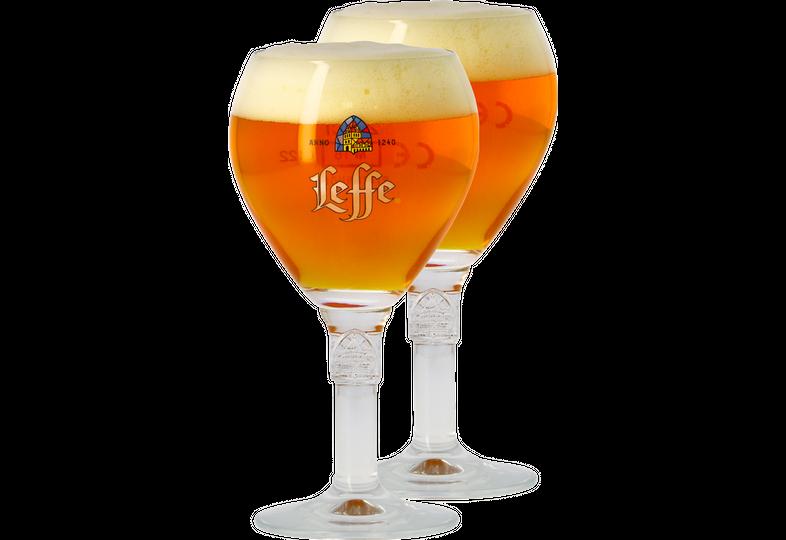 Verres à bière - Pack 2 verres Leffe calice - 25 cl