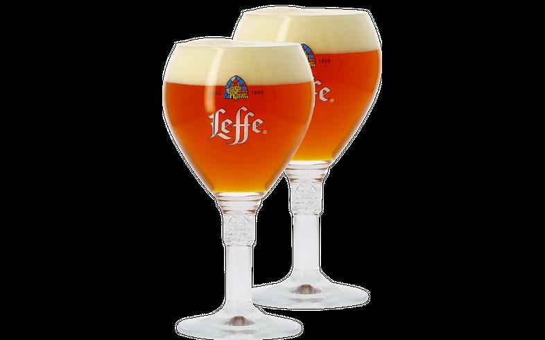 Ölglas - 2 Leffe 33cl goblet glasses
