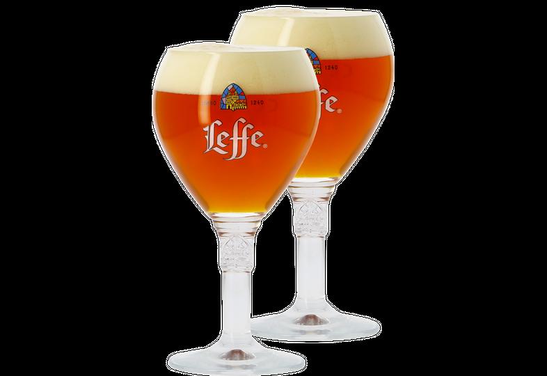 Beer glasses - 2 Leffe 33cl goblet glasses