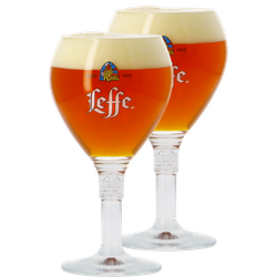 Beer glasses - 2 Leffe 33cl goblet glasses